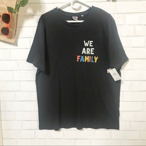 Junk Food T-Shirt WE ARE FAMILY Black